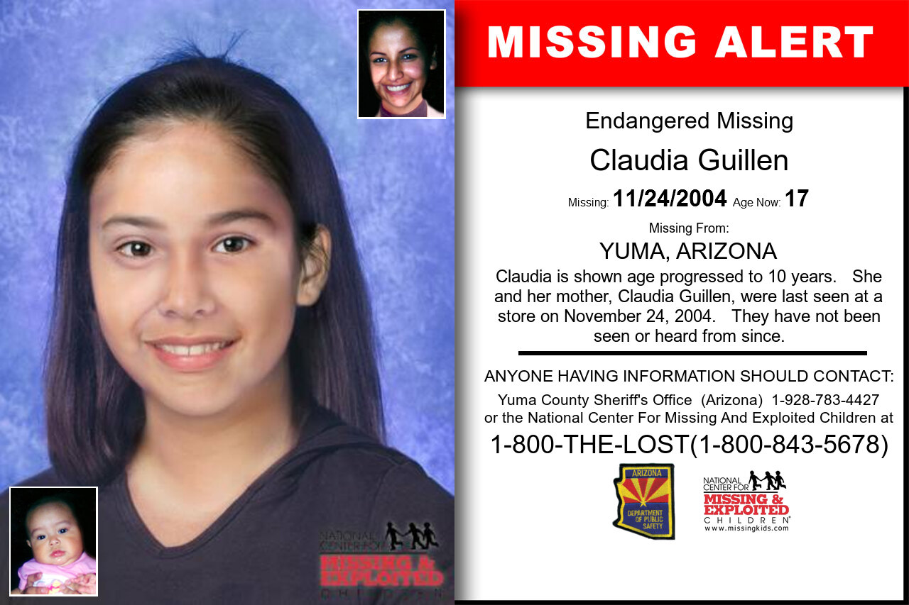 CLAUDIA_GUILLEN missing in Arizona