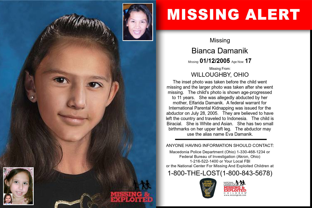 BIANCA_DAMANIK missing in Ohio