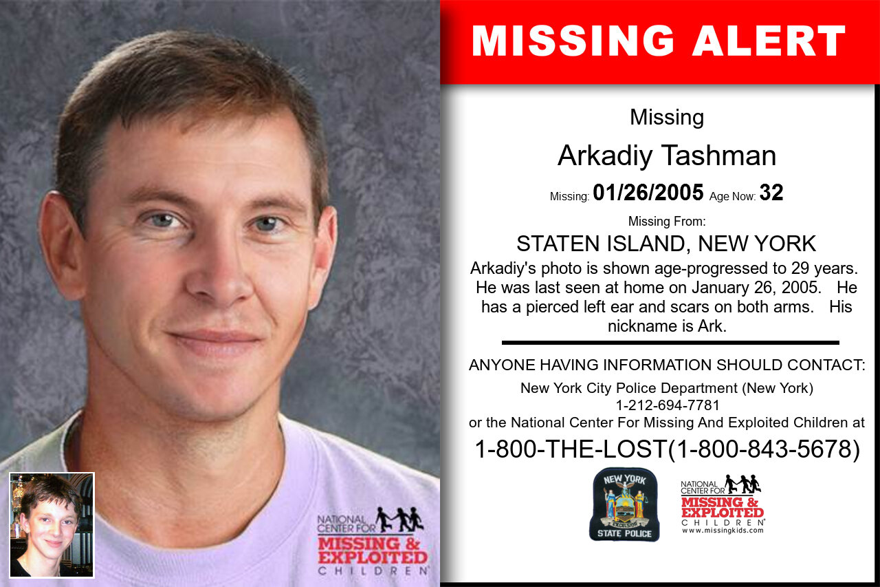 Arkadiy_Tashman missing in New_York