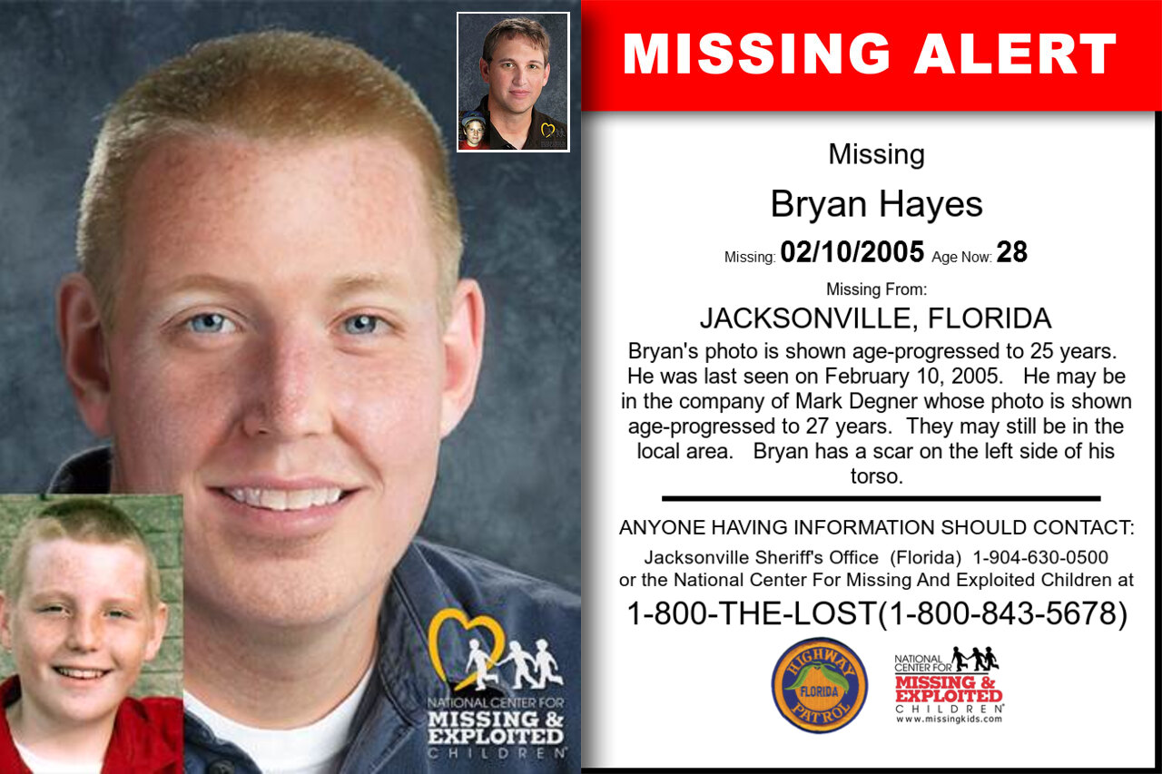 BRYAN_HAYES missing in Florida