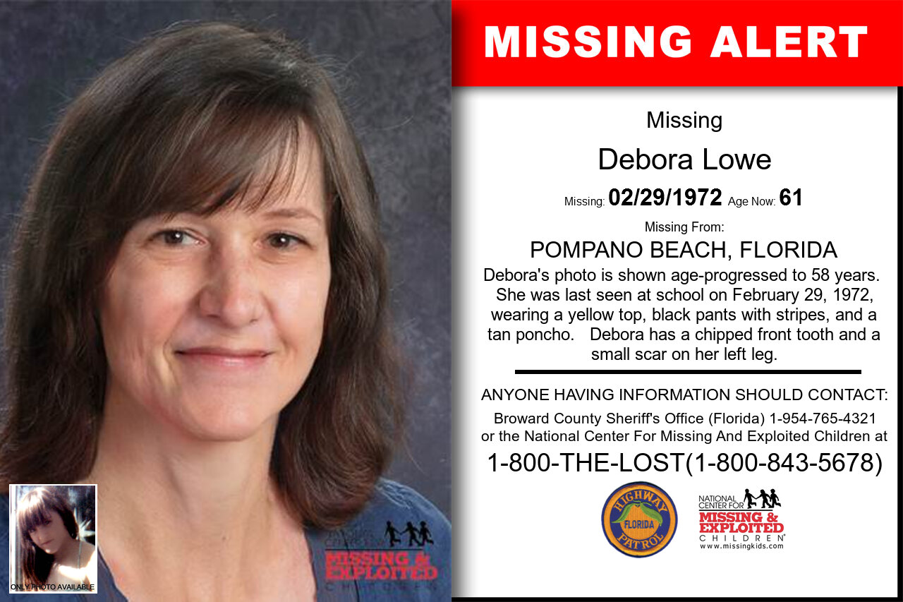 DEBORA_LOWE missing in Florida