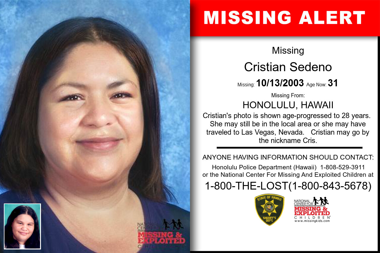 Cristian_Sedeno missing in Hawaii