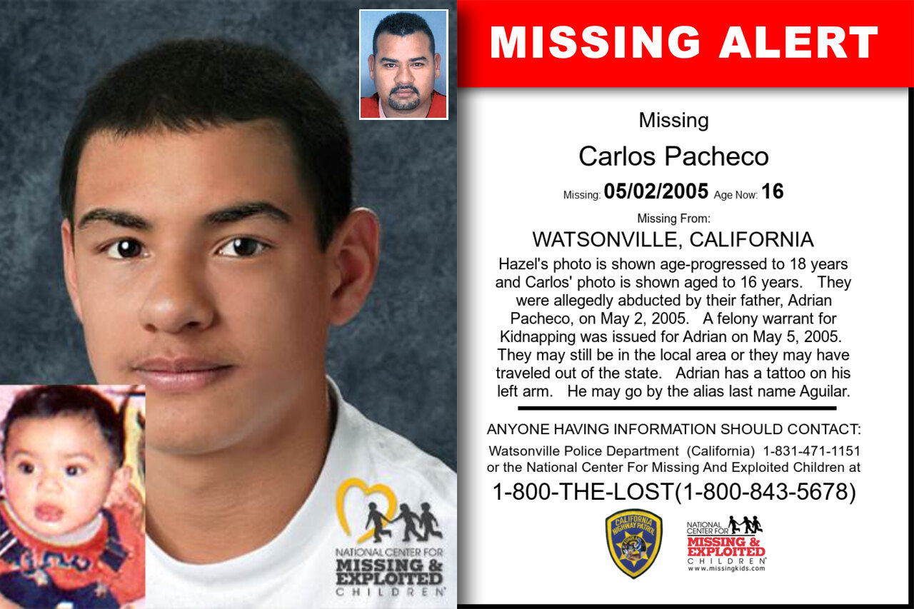 CARLOS_PACHECO missing in California