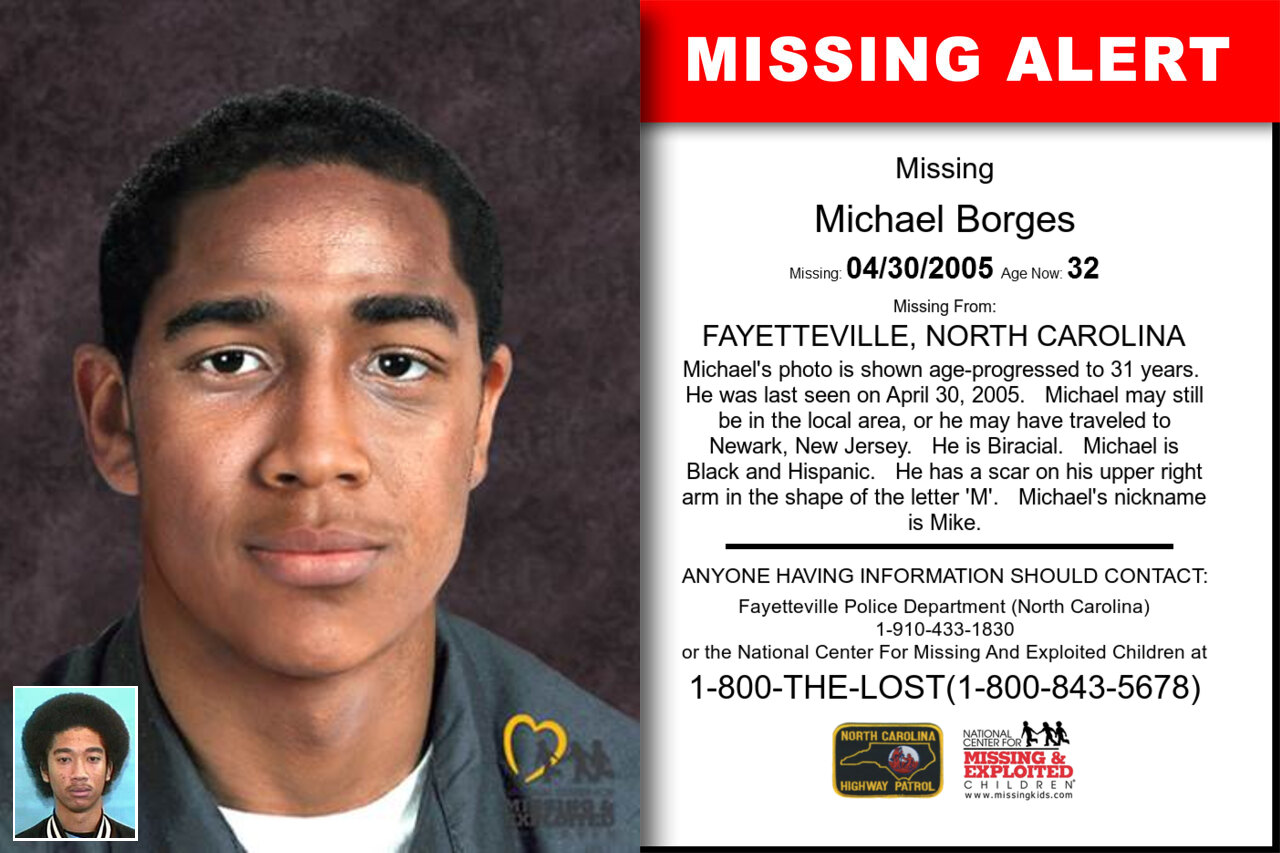 Michael_Borges missing in North_Carolina