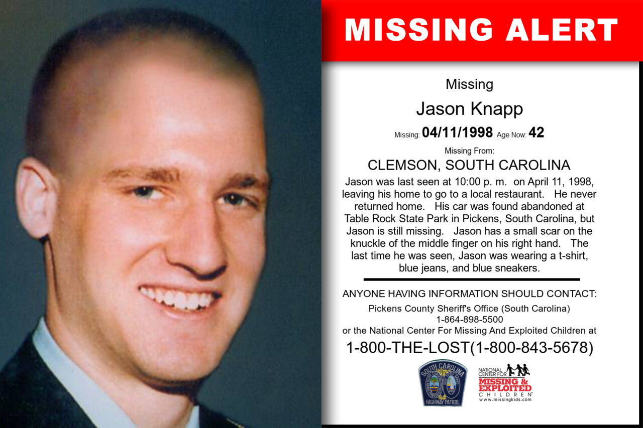 Jason_Knapp missing in South_Carolina