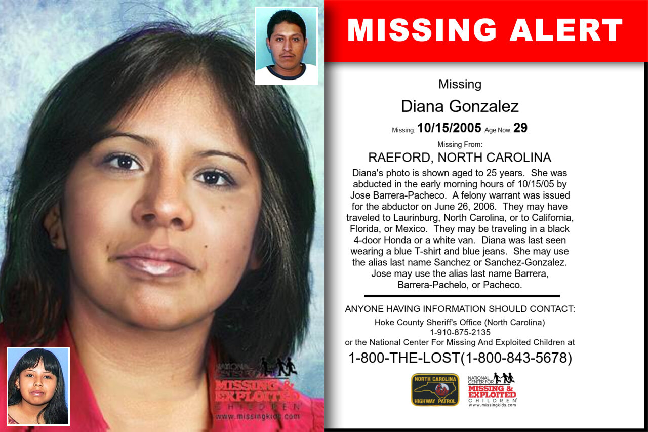DIANA_GONZALEZ missing in North_Carolina