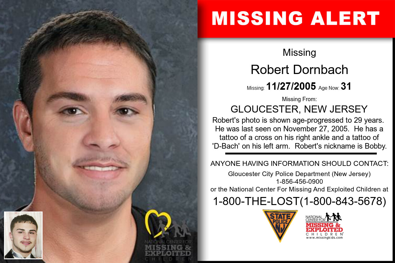 Robert_Dornbach missing in New_Jersey