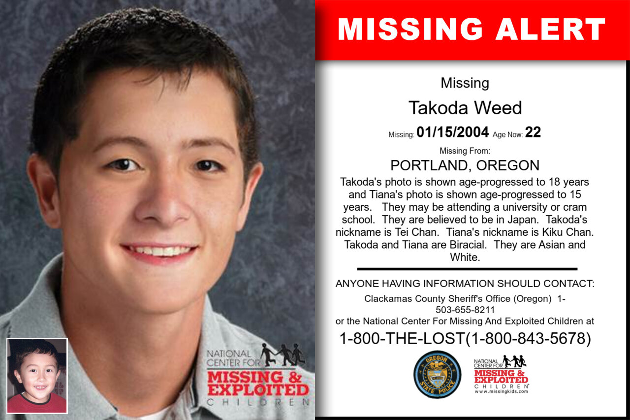 Takoda_Weed missing in Oregon