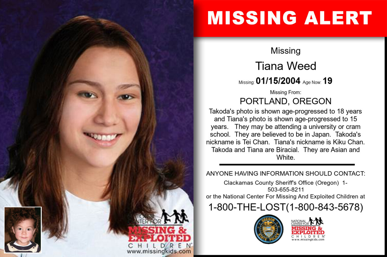 TIANA_WEED missing in Oregon