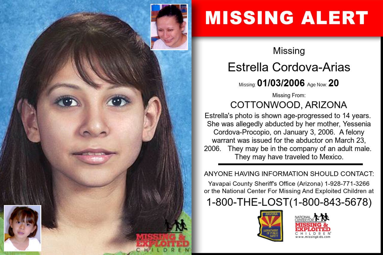 ESTRELLA_CORDOVA-ARIAS missing in Arizona
