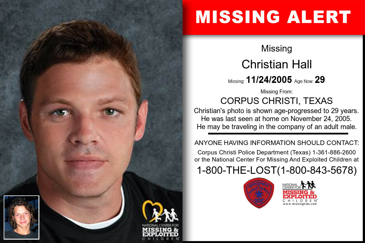 Christian_Hall missing in Texas