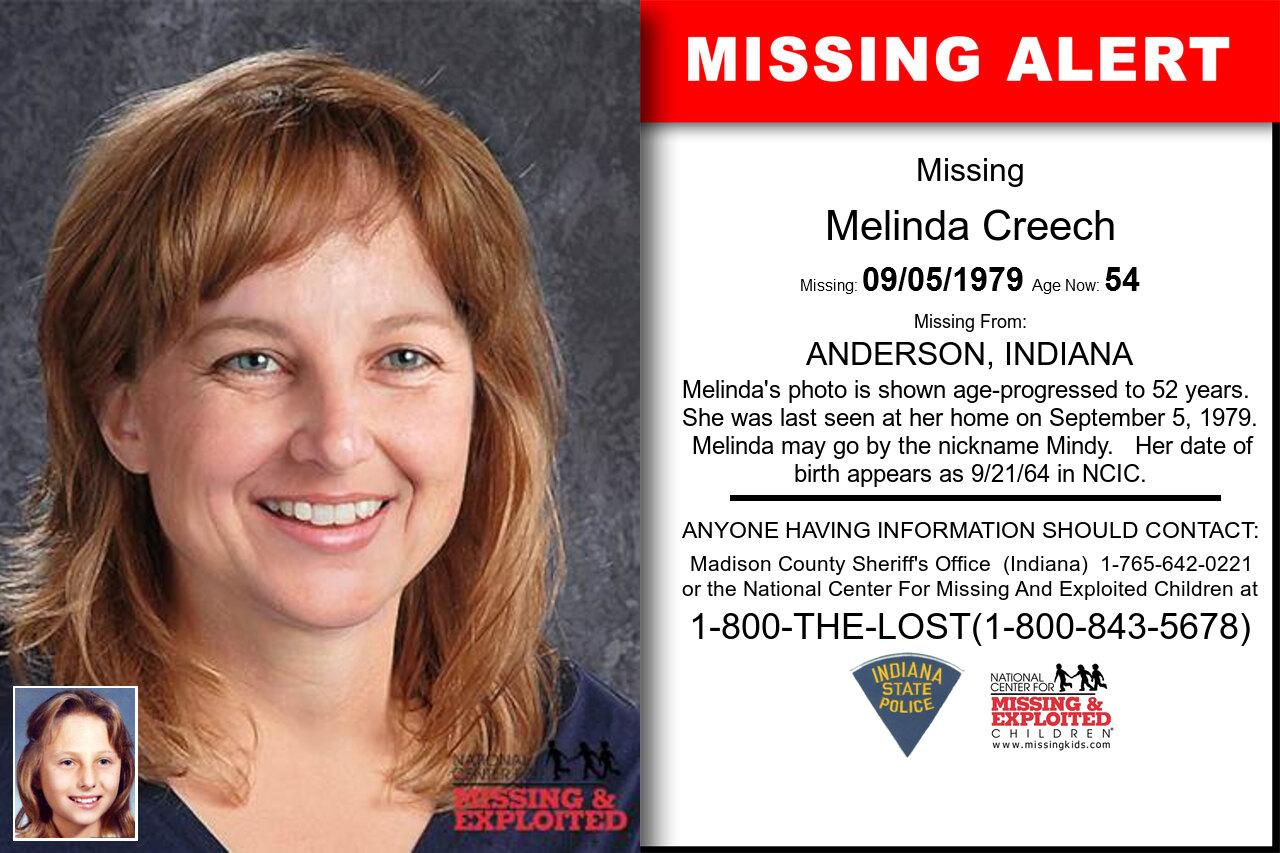Melinda_Creech missing in Indiana