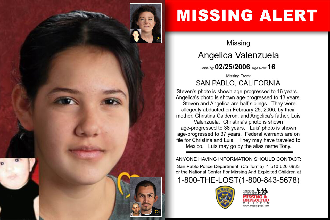 ANGELICA_VALENZUELA missing in California