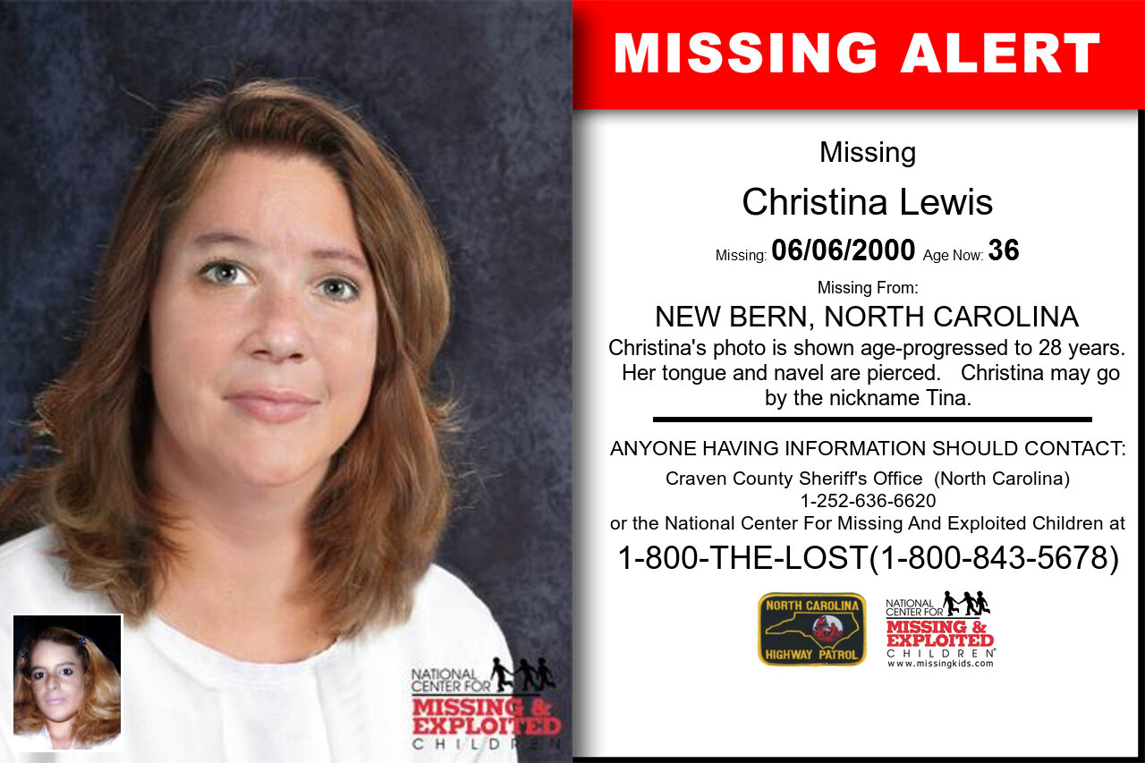 CHRISTINA_LEWIS missing in North_Carolina