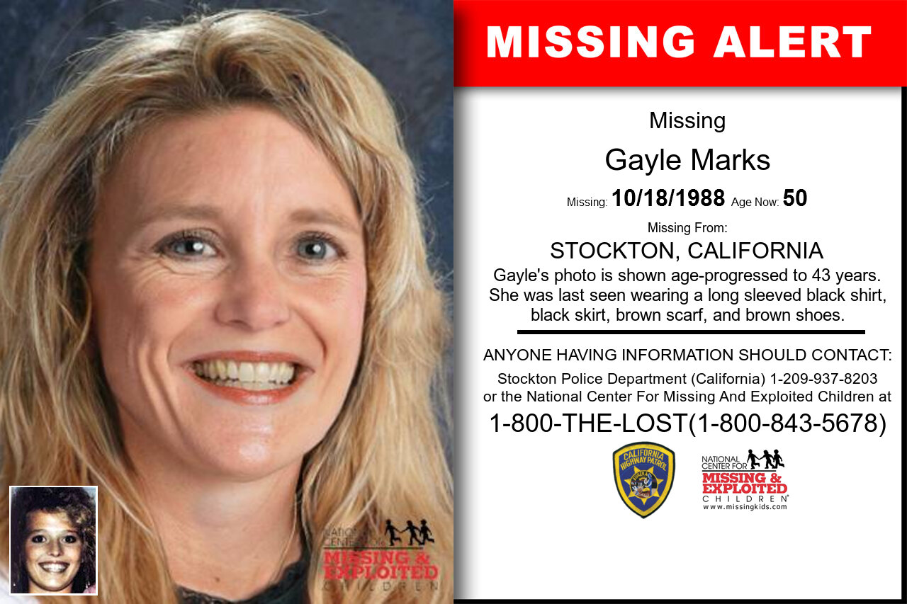 Gayle_Marks missing in California