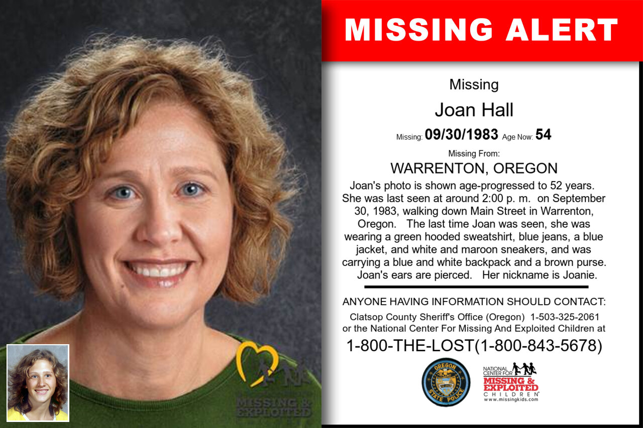 JOAN_HALL missing in Oregon
