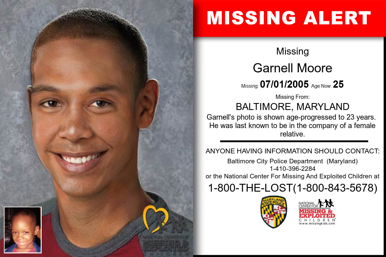 GARNELL_MOORE missing in Maryland