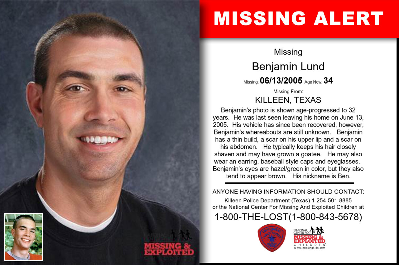 Benjamin_Lund missing in Texas