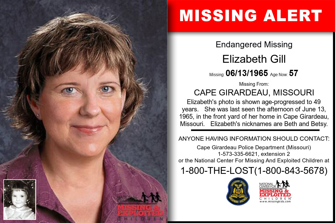 ELIZABETH_GILL missing in Missouri