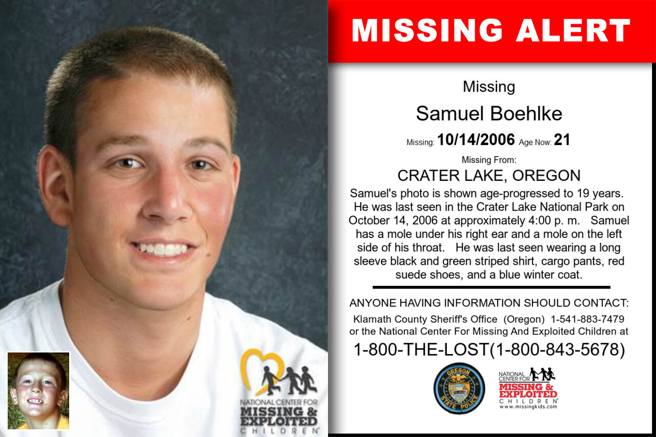 SAMUEL_BOEHLKE missing in Oregon