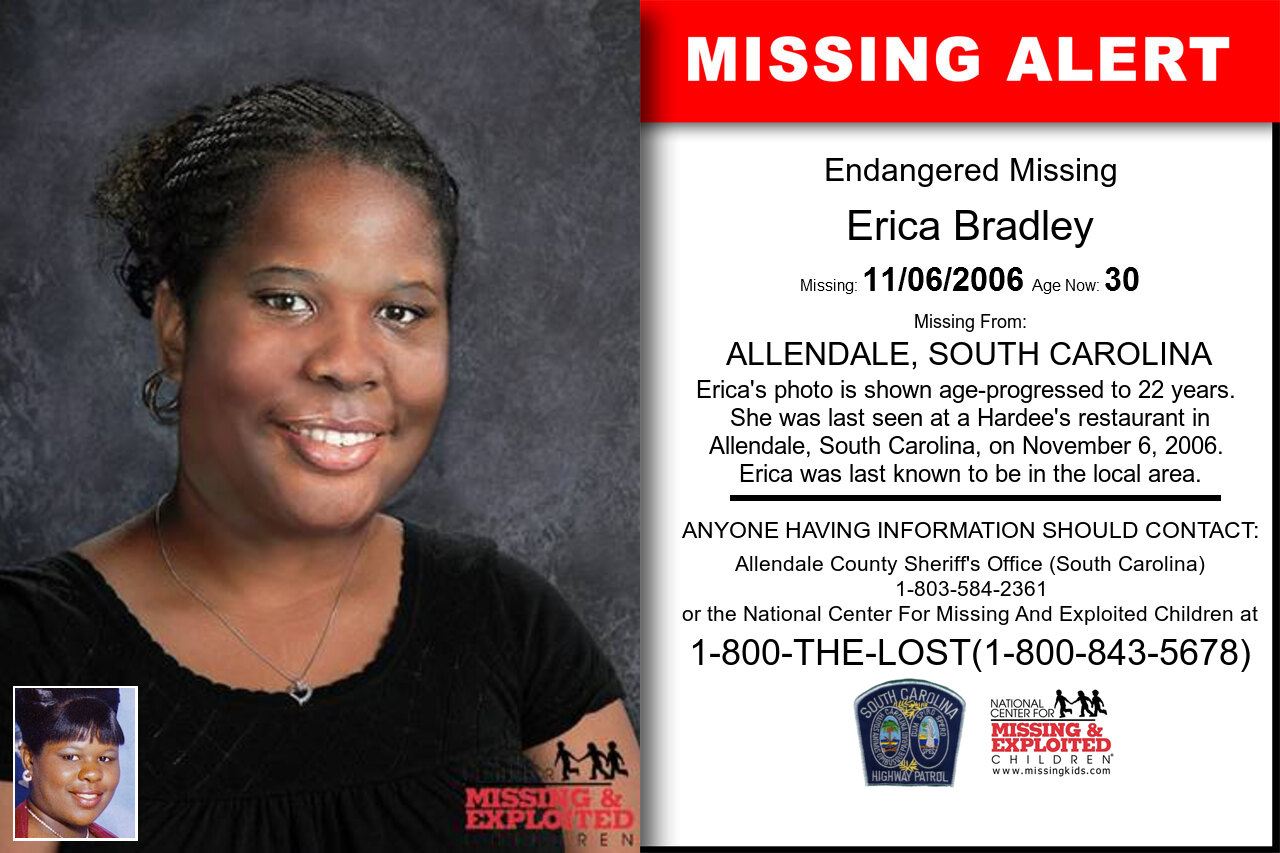 ERICA_BRADLEY missing in South_Carolina
