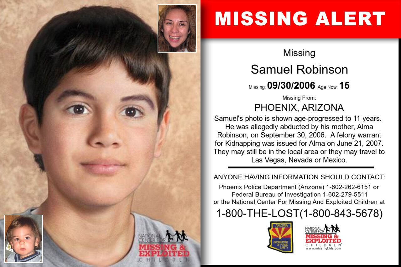 SAMUEL_ROBINSON missing in Arizona