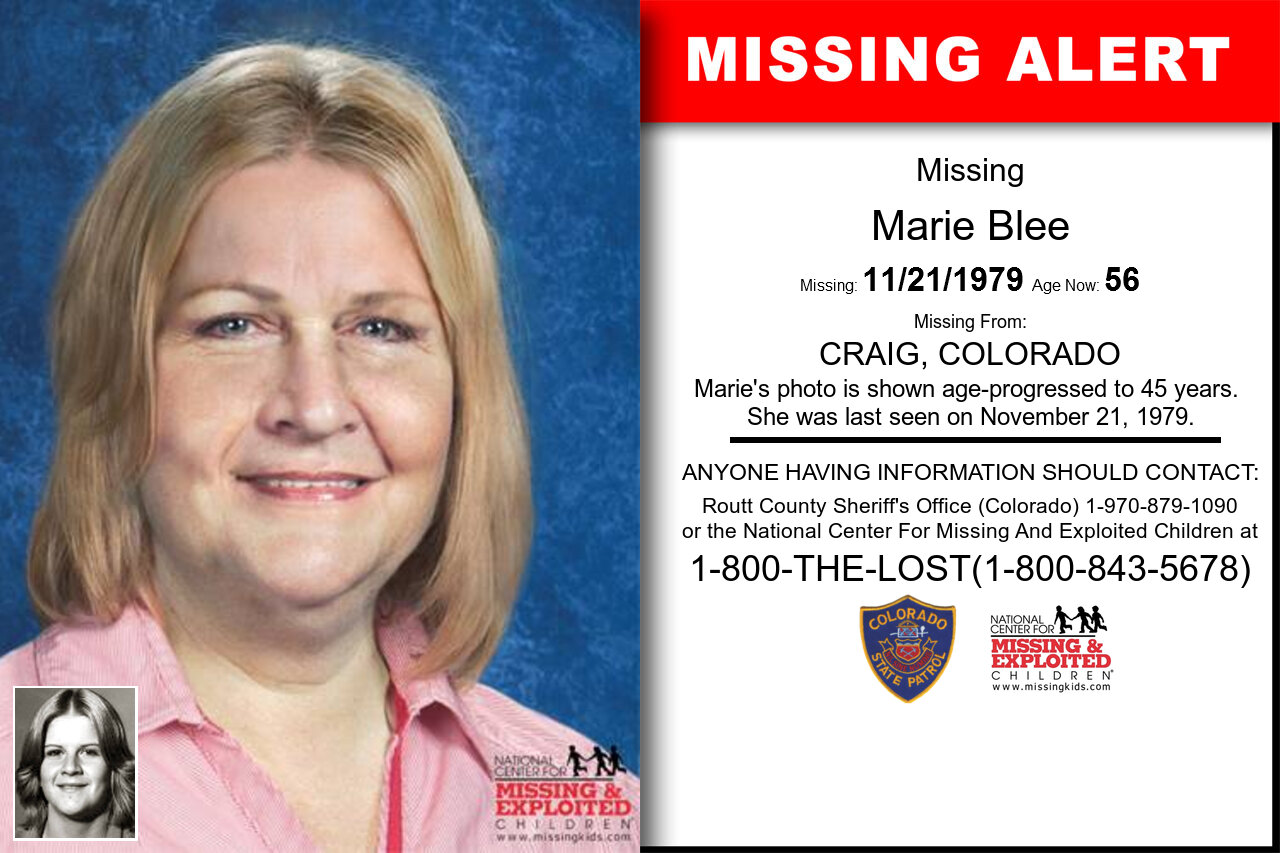 MARIE_BLEE missing in Colorado