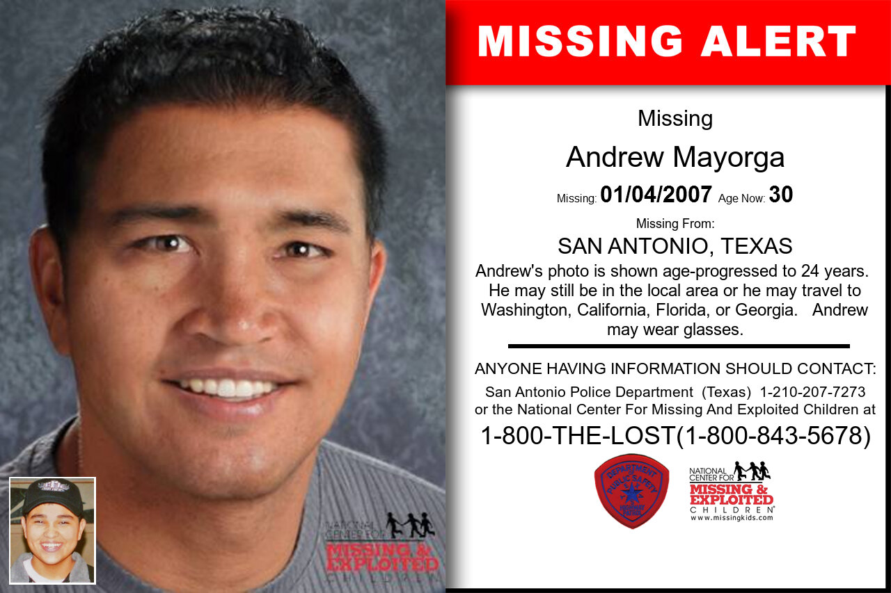 Andrew_Mayorga missing in Texas