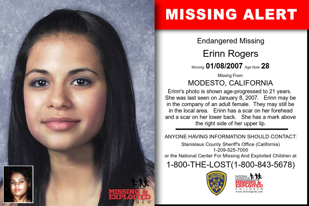 Erinn_Rogers missing in California