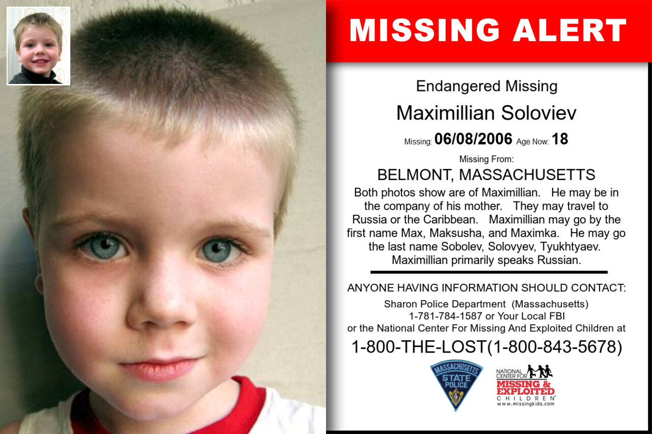 MAXIMILLIAN_SOLOVIEV missing in Massachusetts