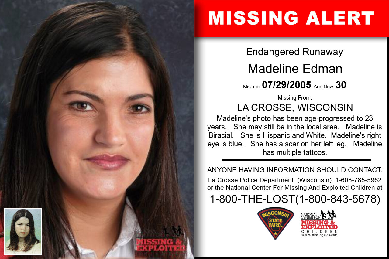 Madeline_Edman missing in Wisconsin