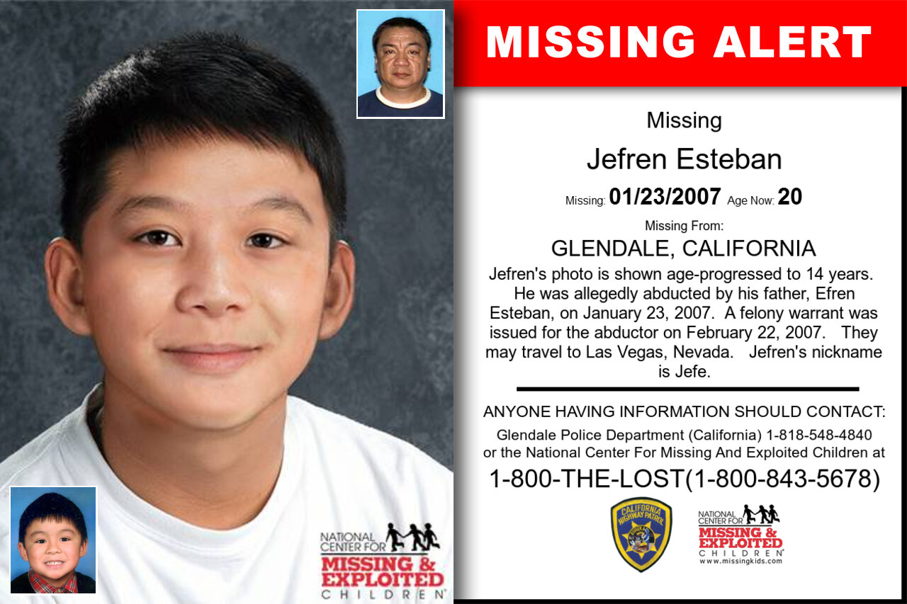 Jefren_Esteban missing in California