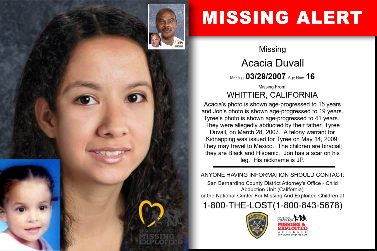ACACIA_DUVALL missing in California