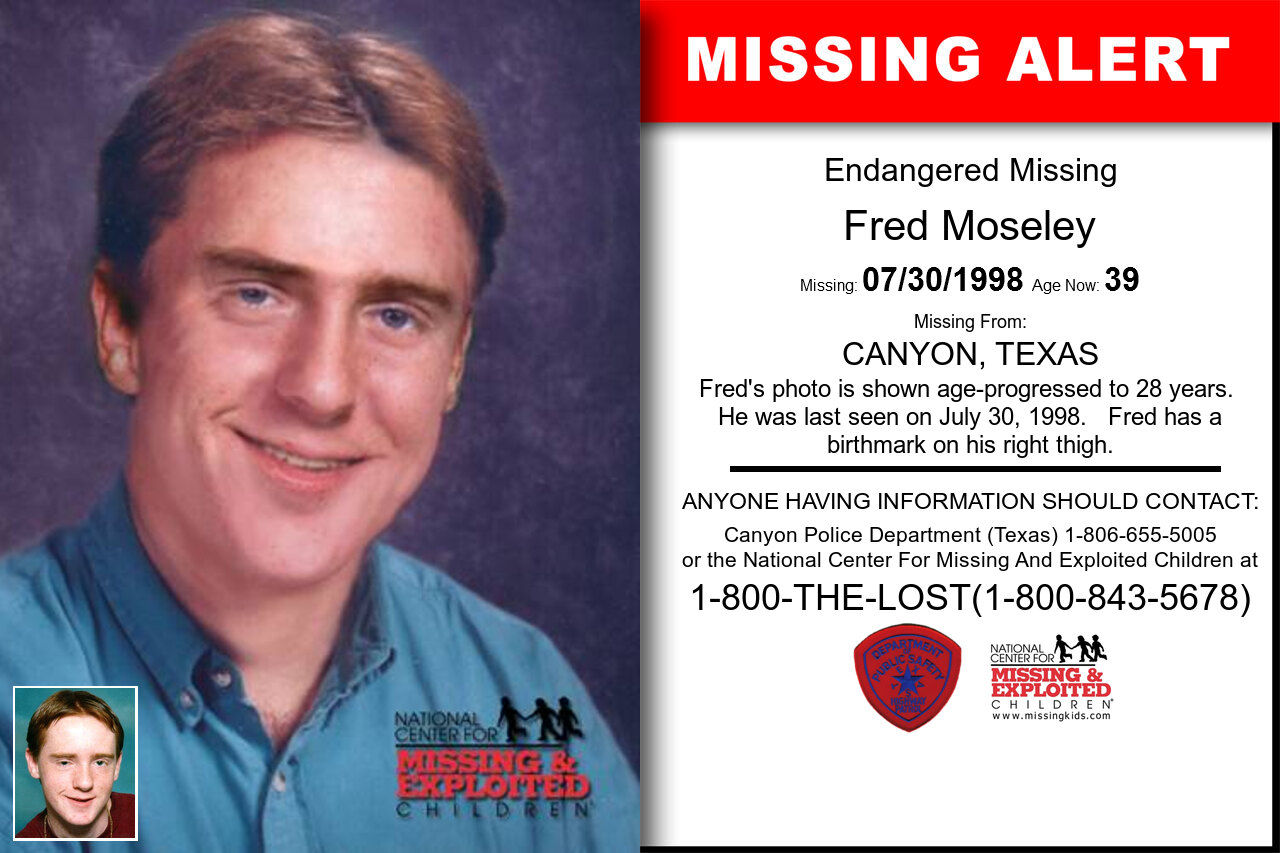 Fred_Moseley missing in Texas