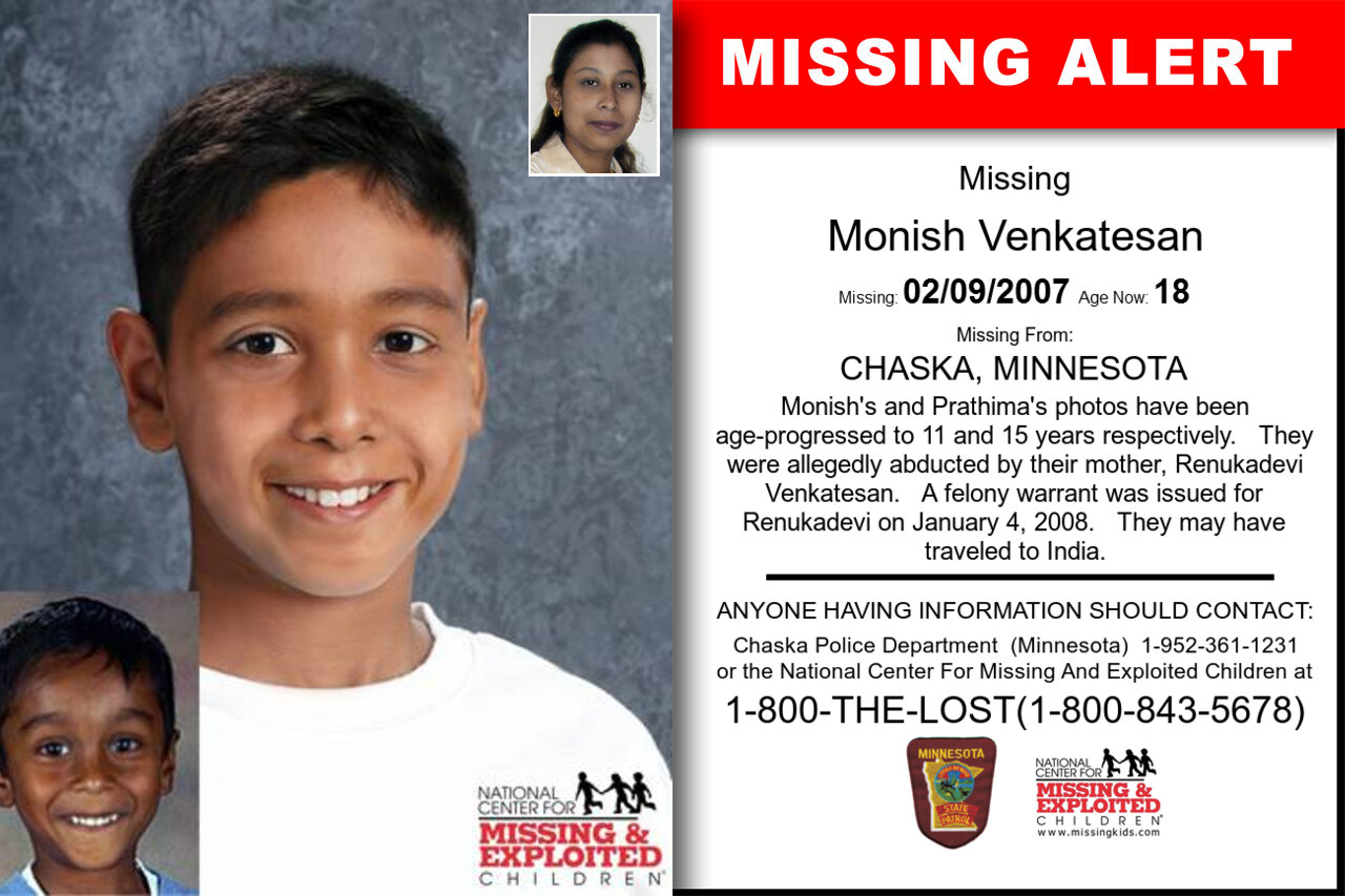 MONISH_VENKATESAN missing in Minnesota