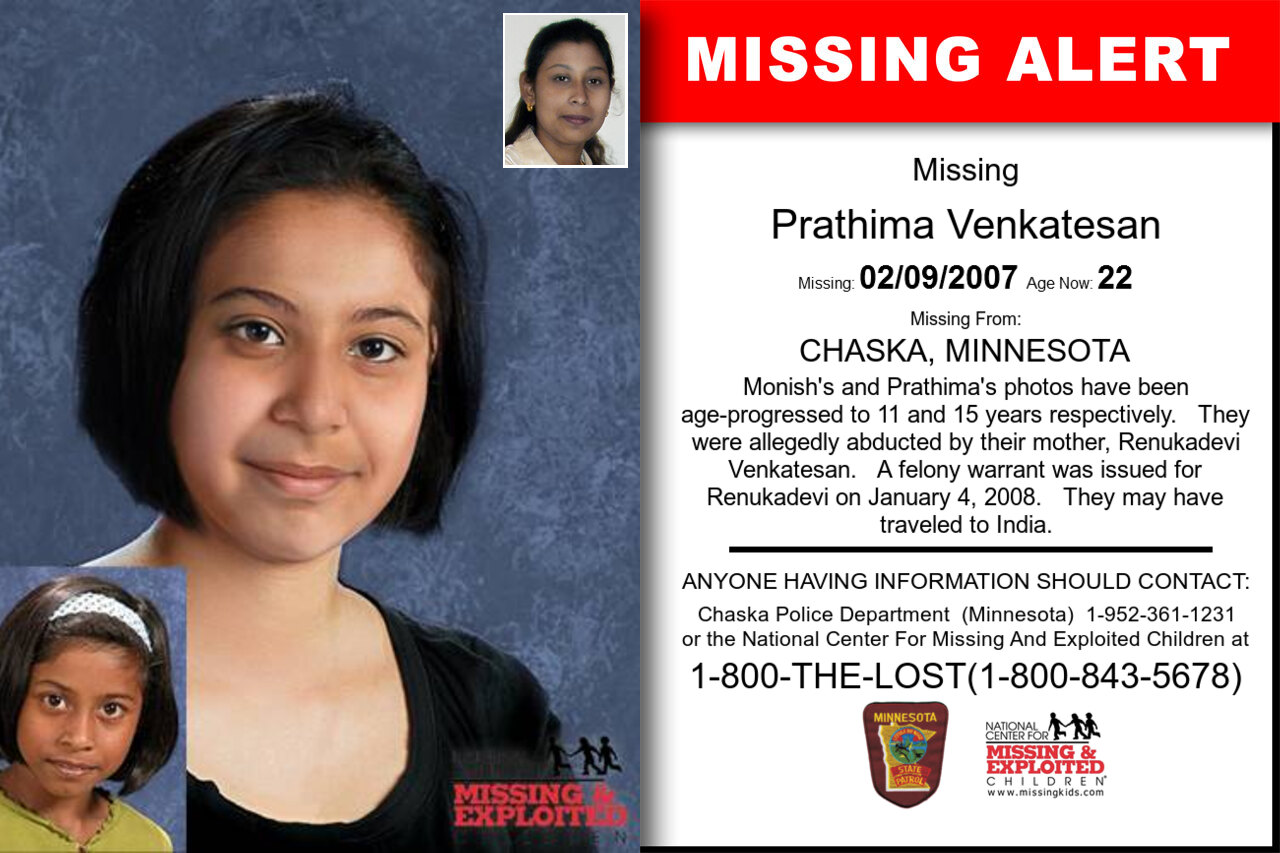 Prathima_Venkatesan missing in Minnesota
