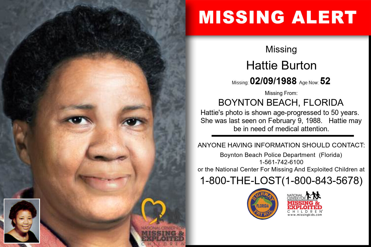 HATTIE_BURTON missing in Florida