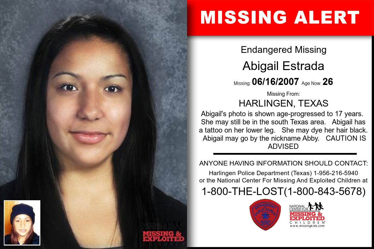 Abigail_Estrada missing in Texas