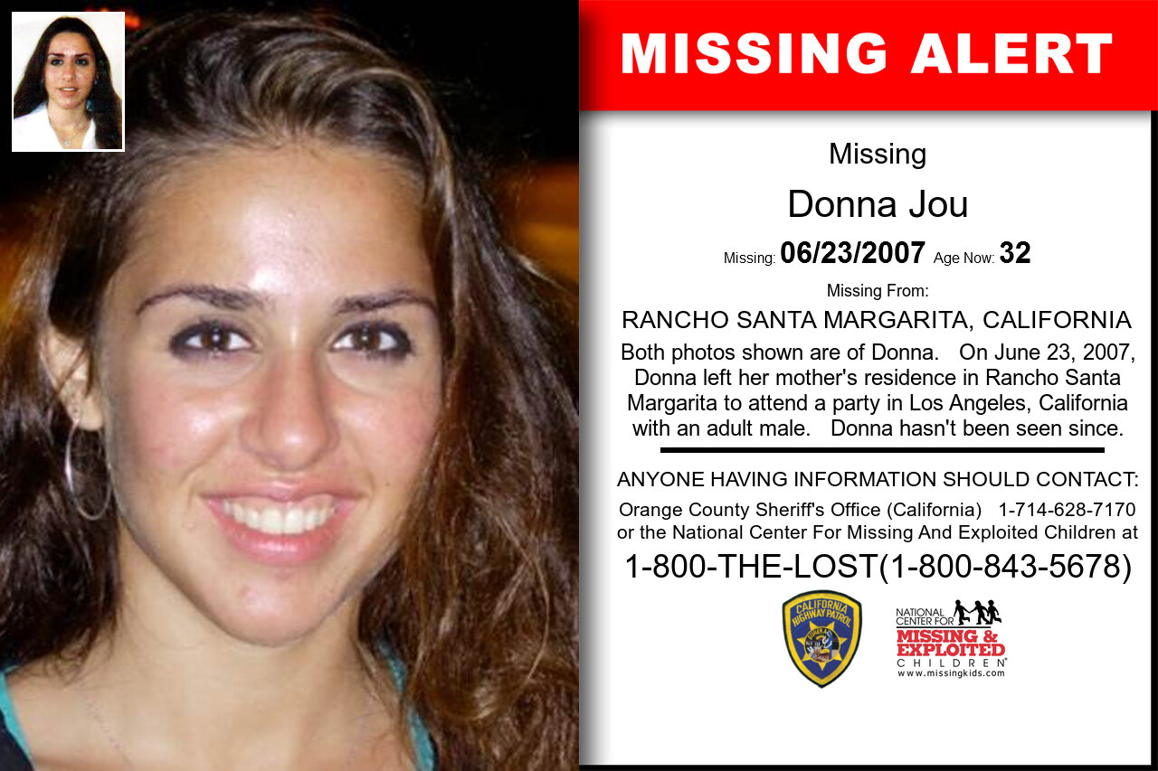 DONNA_JOU missing in California