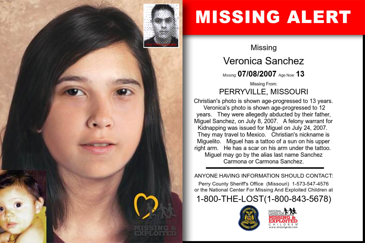 VERONICA_SANCHEZ missing in Missouri