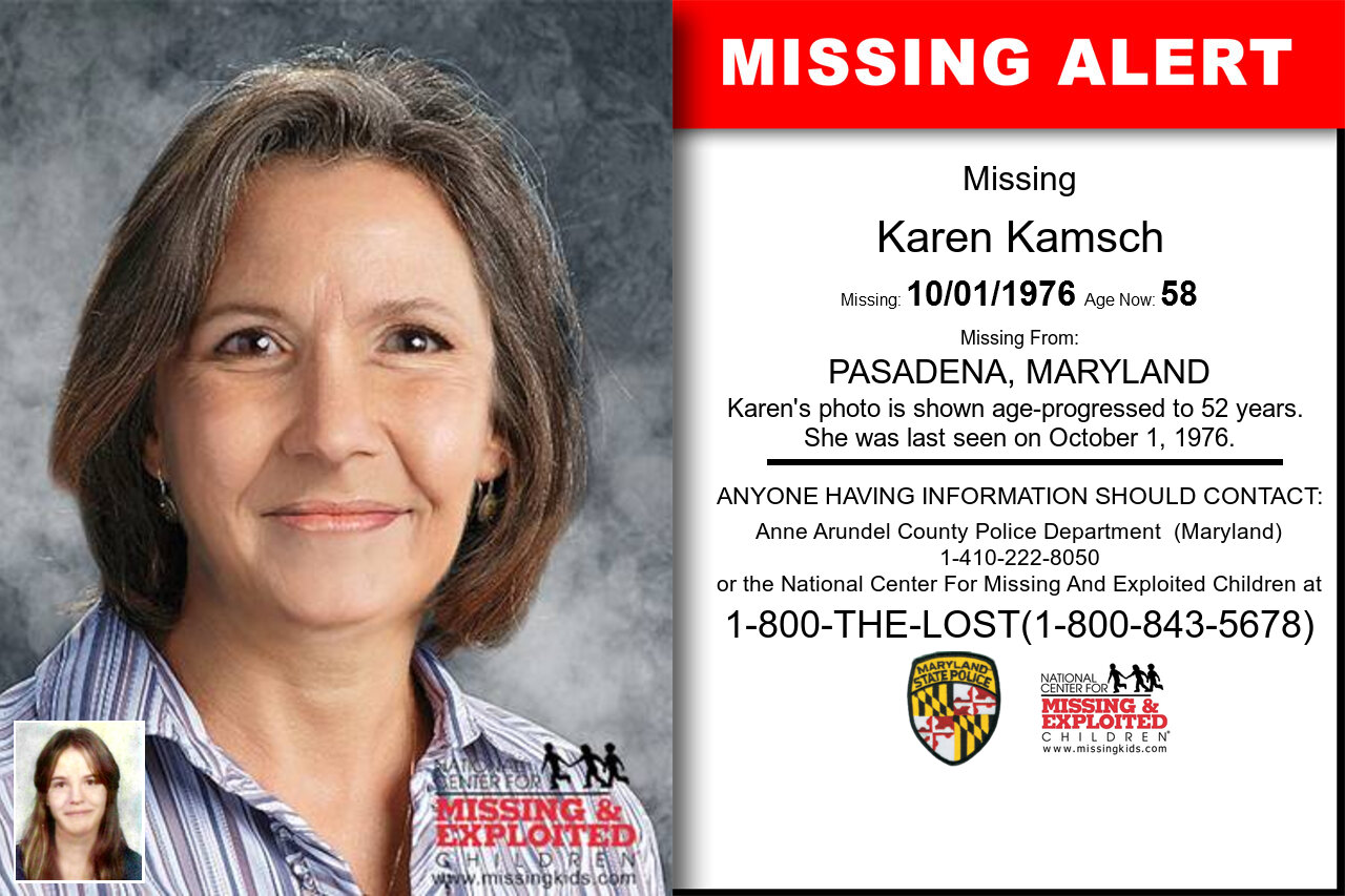 Karen_Kamsch missing in Maryland