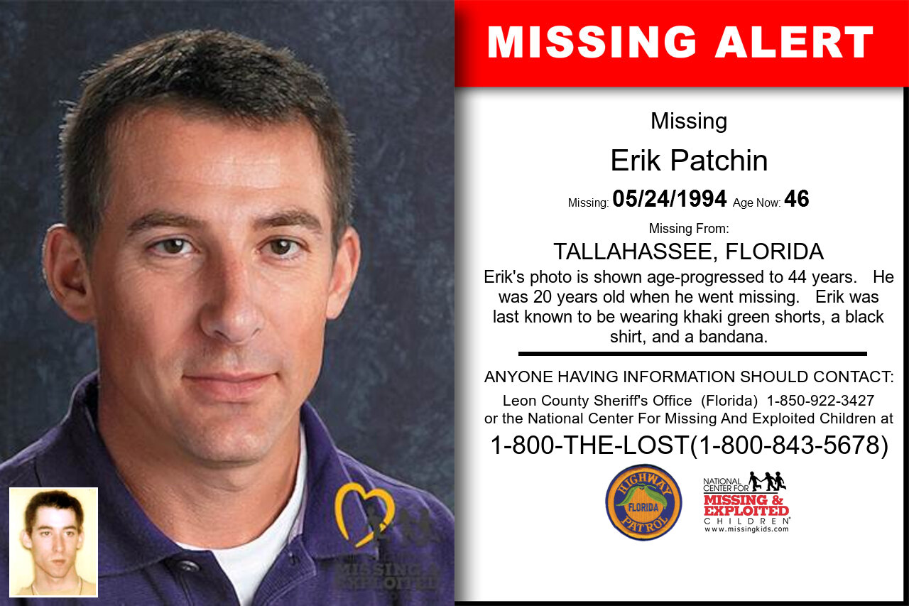 ERIK_PATCHIN missing in Florida