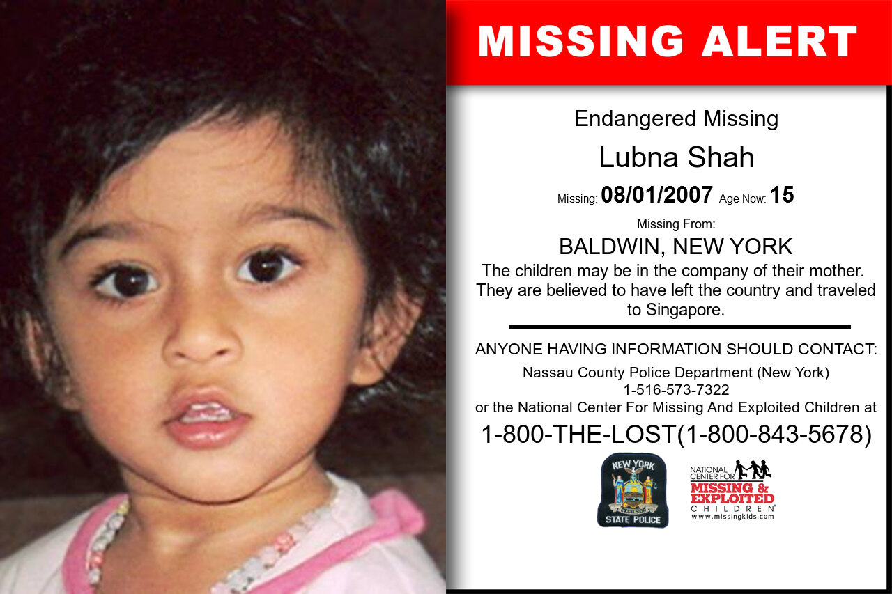 Lubna_Shah missing in New_York