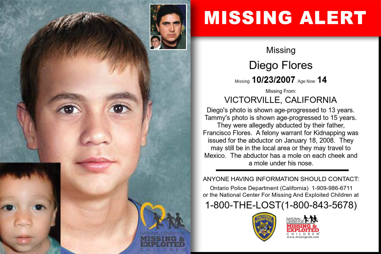 Diego_Flores missing in California