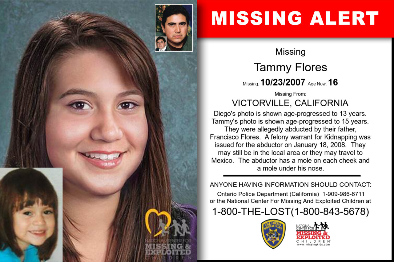 Tammy_Flores missing in California