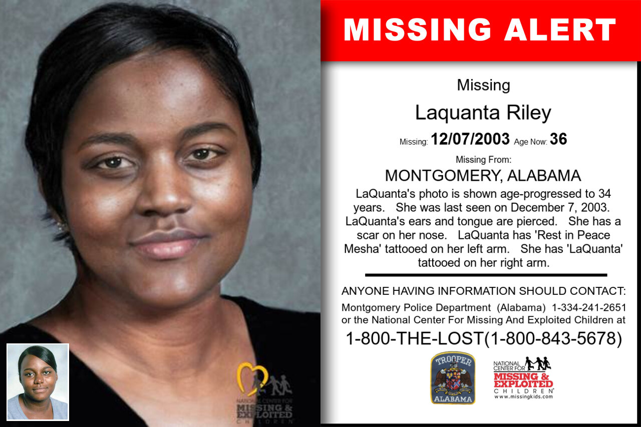 LAQUANTA_RILEY missing in Alabama
