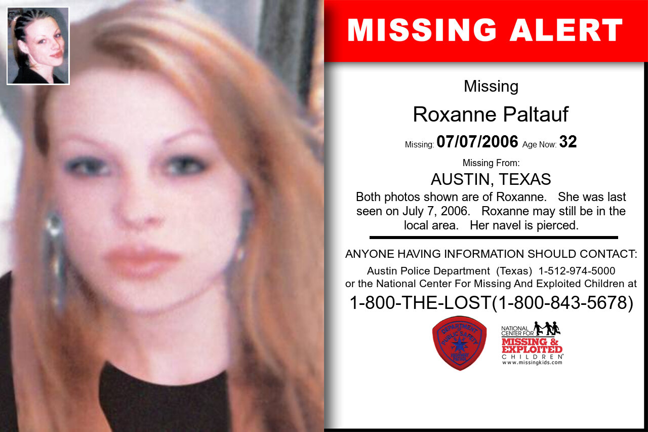 ROXANNE_PALTAUF missing in Texas