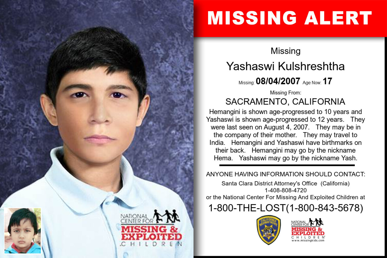 YASHASWI_KULSHRESHTHA missing in California