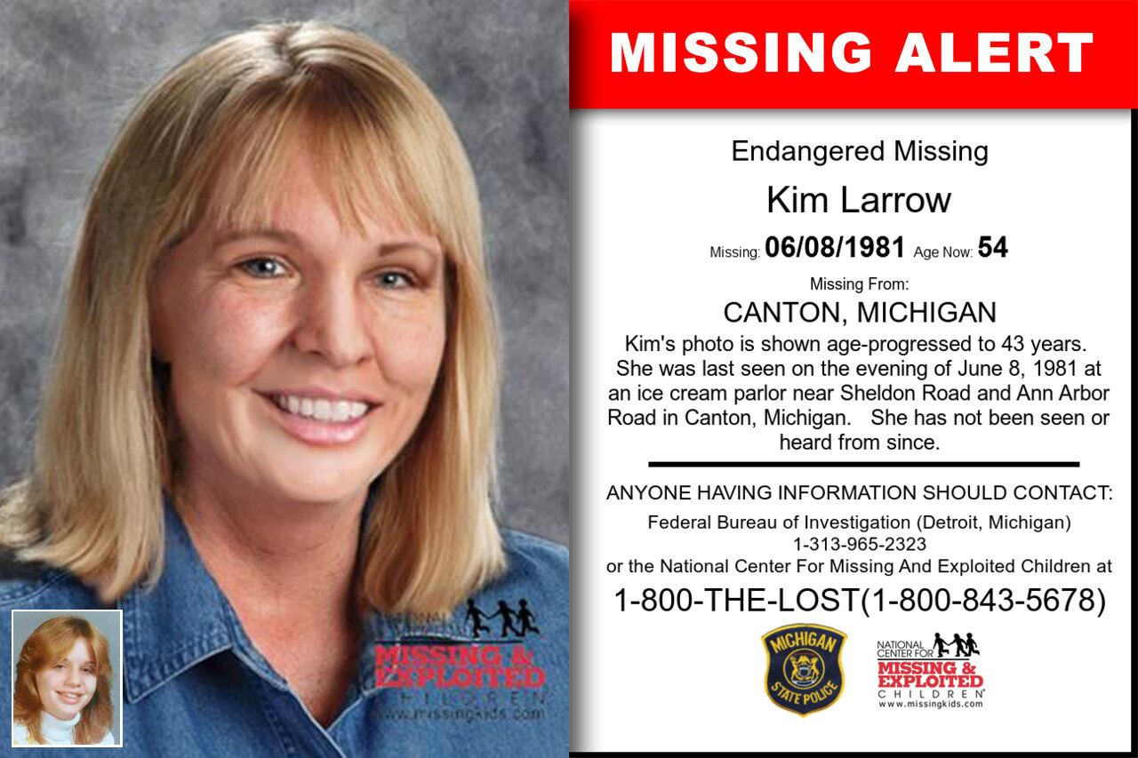 Kim_Larrow missing in Michigan