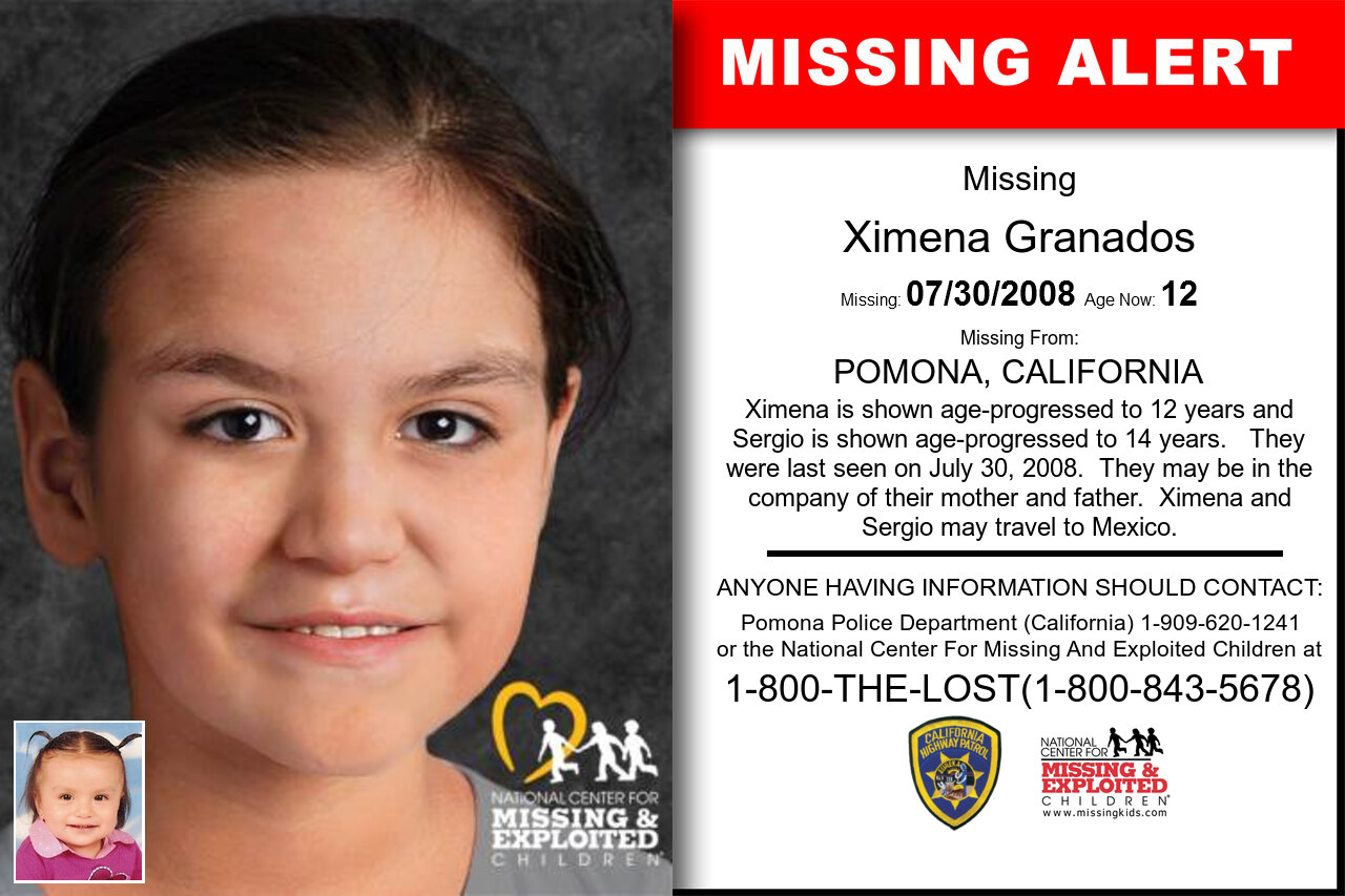 XIMENA_GRANADOS missing in California